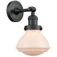 Innovations Lighting 203-BK-G321 Olean 1 Light 7 inch Matte Black Sconce Wall Light Franklin Restoration