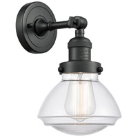 Innovations Lighting 203-BK-G322 Olean 1 Light 7 inch Matte Black Sconce Wall Light Franklin Restoration