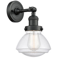 Innovations Lighting 203-BK-G324 Olean 1 Light 7 inch Matte Black Sconce Wall Light Franklin Restoration