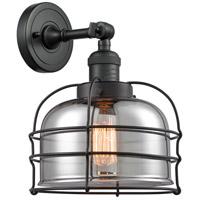 Innovations Lighting 203-BK-G73-CE Large Bell Cage 1 Light 9 inch Matte Black Sconce Wall Light Franklin Restoration