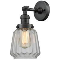 Innovations Lighting 203-OB-G142-LED Chatham LED 6 inch Oil Rubbed Bronze Sconce Wall Light, Franklin Restoration