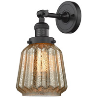 Innovations Lighting 203-OB-G146-LED Chatham LED 6 inch Oil Rubbed Bronze Sconce Wall Light Franklin Restoration