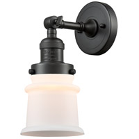 Innovations Lighting 203-OB-G181S-LED Small Canton LED 7 inch Oil Rubbed Bronze Sconce Wall Light Franklin Restoration