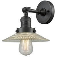 Innovations Lighting 203-OB-G2-LED Halophane LED 9 inch Oil Rubbed Bronze Sconce Wall Light, Franklin Restoration