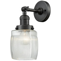Innovations Lighting 203-OB-G302-LED Colton LED 6 inch Oil Rubbed Bronze Sconce Wall Light Franklin Restoration
