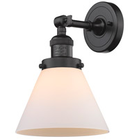 Innovations Lighting 203-OB-G41-LED Large Cone LED 8 inch Oil Rubbed Bronze Sconce Wall Light, Franklin Restoration