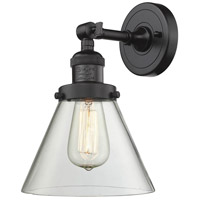 Innovations Lighting 203-OB-G42-LED Large Cone LED 8 inch Oil Rubbed Bronze Sconce Wall Light, Franklin Restoration