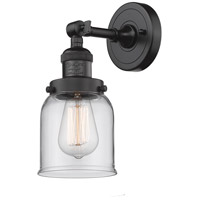 Innovations Lighting 203-OB-G52-LED Small Bell LED 5 inch Oil Rubbed Bronze Sconce Wall Light, Franklin Restoration
