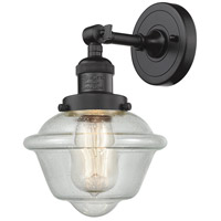 Innovations Lighting 203-OB-G534-LED Small Oxford LED 8 inch Oil Rubbed Bronze Sconce Wall Light Franklin Restoration