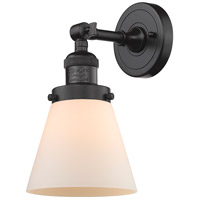 Innovations Lighting 203-OB-G61-LED Small Cone LED 6 inch Oil Rubbed Bronze Sconce Wall Light, Franklin Restoration
