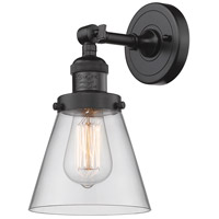 Innovations Lighting 203-OB-G62-LED Small Cone LED 6 inch Oil Rubbed Bronze Sconce Wall Light, Franklin Restoration