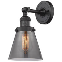 Innovations Lighting 203-OB-G63-LED Small Cone LED 6 inch Oil Rubbed Bronze Sconce Wall Light Franklin Restoration