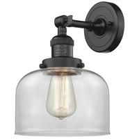 Innovations Lighting 203-OB-G72-LED Large Bell LED 8 inch Oil Rubbed Bronze Sconce Wall Light Franklin Restoration
