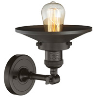 Innovations Lighting 203-OB-M5 Railroad 1 Light 8 inch Oil Rubbed Bronze Sconce Wall Light, Franklin Restoration alternative photo thumbnail