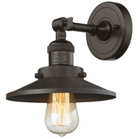 Innovations Lighting 203-OB-M5 Railroad 1 Light 8 inch Oil Rubbed Bronze Sconce Wall Light, Franklin Restoration photo thumbnail