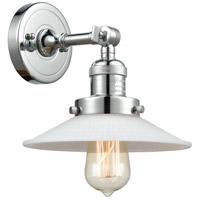 Innovations Lighting 203-PC-G1-LED Halophane LED 9 inch Polished Chrome Sconce Wall Light Franklin Restoration