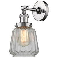 Polished Chrome Glass Chatham Wall Sconces