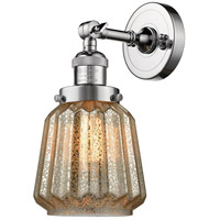 Innovations Lighting 203-PC-G146-LED Chatham LED 6 inch Polished Chrome Sconce Wall Light