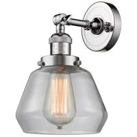 Innovations Lighting 203-PC-G172-LED Fulton LED 7 inch Polished Chrome Sconce Wall Light