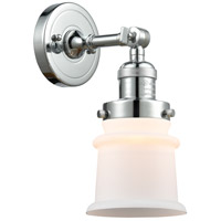Innovations Lighting 203-PC-G181S-LED Small Canton LED 7 inch Polished Chrome Sconce Wall Light Franklin Restoration