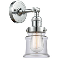 Innovations Lighting 203-PC-G182S Small Canton 1 Light 7 inch Polished Chrome Sconce Wall Light Franklin Restoration