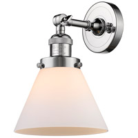 Innovations Lighting 203-PC-G41-LED Large Cone LED 8 inch Polished Chrome Sconce Wall Light