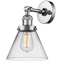 Innovations Lighting 203-PC-G42-LED Large Cone LED 8 inch Polished Chrome Sconce Wall Light