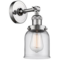 Innovations Lighting 203-PC-G52 Small Bell 1 Light 5 inch Polished Chrome Wall Sconce Wall Light Small Bell