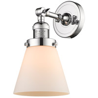 Innovations Lighting 203-PC-G61 Small Cone 1 Light 6 inch Polished Chrome Wall Sconce Wall Light Small Cone