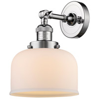 Innovations Lighting 203-PC-G71-LED Large Bell LED 8 inch Polished Chrome Sconce Wall Light