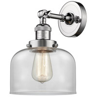 Innovations Lighting 203-PC-G72-LED Large Bell LED 8 inch Polished Chrome Sconce Wall Light