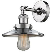 Innovations Lighting 203-PC-M7-LED Railroad LED 8 inch Polished Chrome Sconce Wall Light