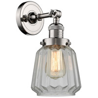 Innovations Lighting 203-PN-G142-LED Chatham LED 6 inch Polished Nickel Sconce Wall Light Franklin Restoration
