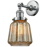 Innovations Lighting 203-PN-G146-LED Chatham LED 6 inch Polished Nickel Sconce Wall Light Franklin Restoration