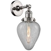 Innovations Lighting 203-PN-G165-LED Geneseo LED 7 inch Polished Nickel Sconce Wall Light Franklin Restoration