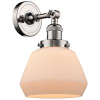 Innovations Lighting 203-PN-G171-LED Fulton LED 7 inch Polished Nickel Sconce Wall Light