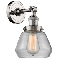 Innovations Lighting 203-PN-G172-LED Fulton LED 7 inch Polished Nickel Sconce Wall Light Franklin Restoration