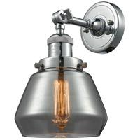 Innovations Lighting 203-PN-G173-LED Fulton LED 7 inch Polished Nickel Sconce Wall Light, Franklin Restoration