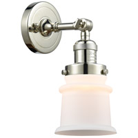 Innovations Lighting 203-PN-G181S-LED Small Canton LED 7 inch Polished Nickel Sconce Wall Light Franklin Restoration