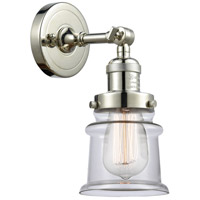 Innovations Lighting 203-PN-G182S-LED Small Canton LED 7 inch Polished Nickel Sconce Wall Light Franklin Restoration