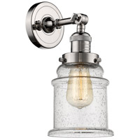 Innovations Lighting 203-PN-G184-LED Canton LED 7 inch Polished Nickel Sconce Wall Light Franklin Restoration