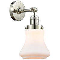 Polished Nickel Steel Bellmont Wall Sconces