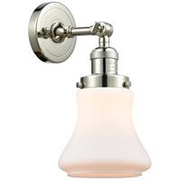 Innovations Lighting 203-PN-G191-LED Bellmont LED 7 inch Polished Nickel Sconce Wall Light Franklin Restoration