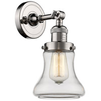 Innovations Lighting 203-PN-G192 Bellmont 1 Light 7 inch Polished Nickel Sconce Wall Light Franklin Restoration