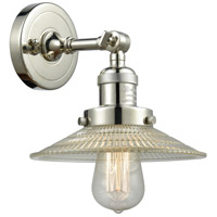 Innovations Lighting 203-PN-G2 Halophane 1 Light 9 inch Polished Nickel Sconce Wall Light Franklin Restoration