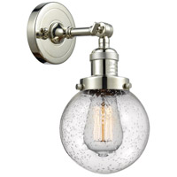 Innovations Lighting 203-PN-G204-6 Beacon 1 Light 6 inch Polished Nickel Sconce Wall Light Franklin Restoration