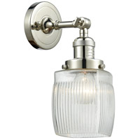 Innovations Lighting 203-PN-G302-LED Colton LED 6 inch Polished Nickel Sconce Wall Light