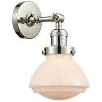 Innovations Lighting 203-PN-G321 Olean 1 Light 7 inch Polished Nickel Sconce Wall Light Franklin Restoration