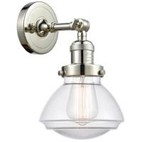 Innovations Lighting 203-PN-G322 Olean 1 Light 7 inch Polished Nickel Sconce Wall Light Franklin Restoration