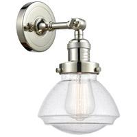 Innovations Lighting 203-PN-G324 Olean 1 Light 7 inch Polished Nickel Sconce Wall Light Franklin Restoration